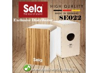 Sela SE 022 Wave Special Coated Birch Body Professional Snare Cajon White Zebrano (SE022)