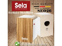 Sela SE 026 Wave Professional Snare Cajon with On Off Mechanism White Zebrano (SE026)