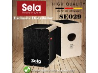 Sela SE 029 Wave Professional Snare Cajon with On Off Mechanism Black (SE029)