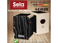 Sela SE 030 Wave Professional Snare Cajon with On/Off Mechanism Black Makassar (SE030)