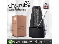 Cherub WSM-330 Analog Metronome Mechanical Timer Rhythm Black For Piano Violin Guitar Drum (WSM330)