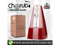 Cherub WSM-330 Analog Metronome Mechanical Timer Rhythm Maroon Red For Piano Violin Guitar Drum (WSM330)