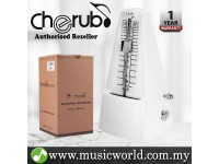 Cherub WSM-330 Analog Metronome Mechanical Timer Rhythm White For Piano Violin Guitar Drum (WSM330)