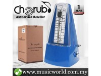 Cherub WSM-330 Analog Metronome Mechanical Timer Rhythm Blue For Piano Violin Guitar Drum (WSM330)
