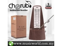 Cherub WSM-330 Analog Metronome Mechanical Timer Rhythm Walnut Wood Grain For Piano Violin Guitar Drum (WSM330)