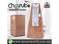 Cherub WSM-330 Analog Metronome Mechanical Timer Rhythm Cherrywood Wood Grain For Piano Violin Guitar Drum (WSM330)