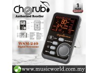 Cherub WSM-240 Digital Portable Metronome Tone Generator For Drum Piano Violin Guitar (WSM240)