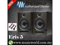 "PreSonus Eris E5 5.25"" Professional Powered Multimedia Studio Monitor Speaker Cabinet Pair (E 5)"