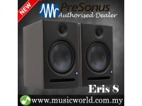 "PreSonus Eris E8 8"" Professional Powered Multimedia Studio Monitor Speaker Cabinet Pair (E 8)"