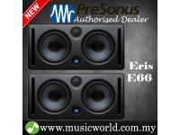 "PreSonus Eris E66 Dual 6.5"" Professional Powered Multimedia Studio Monitor Speaker Cabinet Pair (E 66)"