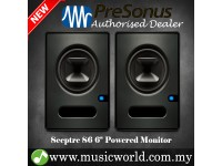 "PreSonus Sceptre S6 6"" Professional Powered Multimedia Studio Monitor Speaker Cabinet with Coaxial Speaker Alignment and DSP Processing (S 6)"