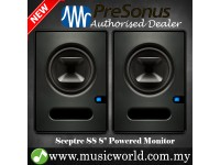 "PreSonus Sceptre S8 8"" Professional Powered Multimedia Studio Monitor Speaker Cabinet with Coaxial Speaker Alignment and DSP Processor (S 8)"