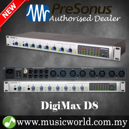 PreSonus DigiMAX D8 8-channel Microphone Preamp with Lightpipe