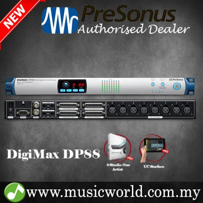 Presonus DigiMax DP88 8-Channel Mic Preamp with recallable XMAX Microphone preamps (DP 88)