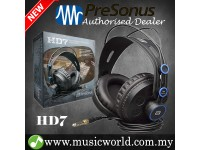 PreSonus HD7 Professional Monitoring Headphones Semi-Closed Back with Deep and Rich Bass (HD 7)