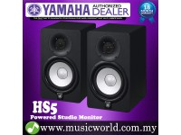 "Yamaha HS5 Black 5"" 2-way Powered Studio Monitor Speaker Cabinet 70W with Woofer and 1"" Tweeter HS 5 (Pair)"