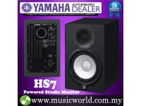 "Yamaha HS7 Black 6.5"" Powered Studio Monitor Speaker Cabinet 95W with 6.5"" Cone Woofer HS 7 (each)"