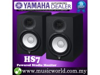 "Yamaha HS7 Black 6.5"" Powered Studio Monitor Speaker Cabinet 95W with 6.5"" Cone Woofer HS 7 (Pair)"