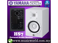 "Yamaha HS7 White 6.5"" Powered Studio Monitor Speaker Cabinet 95W with 6.5"" Cone Woofer HS 7 (each)"