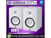 "Yamaha HS7 White 6.5"" Powered Studio Monitor Speaker Cabinet 95W with 6.5"" Cone Woofer HS 7 (Pair)"