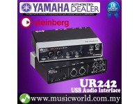 Yamaha Steinberg UR242 4 in 2 out USB 2.0 Audio Interface with Mic Preamps Midi * Indent Basis