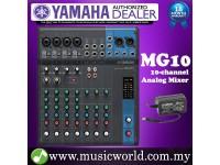 Yamaha MG10 Mixer 10-channel Stereo Analog Mixing Console Mixers (MG 10)