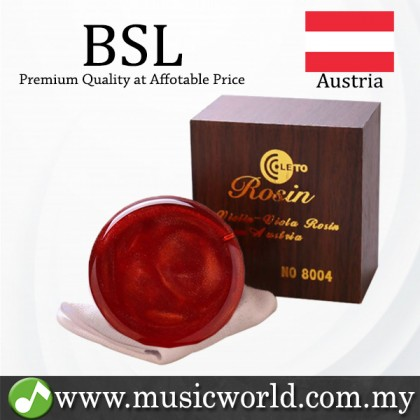BSL Leto 8004 Red Rose Rosin Professional Series for Violin Viola Cello Double Bass Light and Low Dust