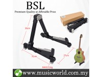 BSL A-20 Foldable Guitar Stand A Frame Folding Universal For Guitar Bass Violin Banjo Mandolin Electric (Black)