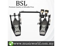 BSL G710 Double Pedal Double Bass Drum Dual Foot Kick Double Chain Interchangeable Pedal