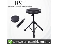 BSL D-91 Drum Stool Drum Chair Cushion Padded Adjustable Comfortable Heavy Duty Throne