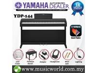 Yamaha Arius YDP-144 Rosewood Black 88 Key Digital Piano Complete Bundle (YDP144 / YDP 144)