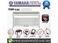 Yamaha Arius YDP-144 Rosewood White 88 Key Digital Piano Complete Bundle (YDP144 / YDP 144)