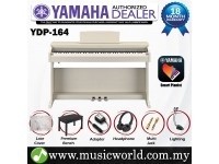Yamaha Arius YDP-164 White Ash Tone 88 Key Digital Piano Complete Bundle (YDP164 / YDP 164)