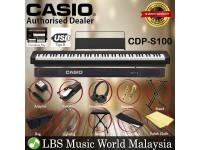 Casio CDP-S100 88 Key Digital Piano Keyboard Portable Package Electric Keys (CDPS100)