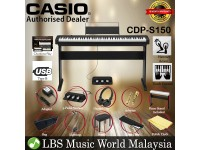 Casio CDP-S150 88 Keys Digital Piano Keyboard 3 Pedal Full Package Electric Keys (CDPS150)