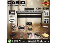 Casio CDP-S350 88 Keys Digital Piano Keyboard 3 Pedal Full Package Electric Keys (CDPS350)