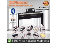 Roland FP-10 88 Key Digital Piano Black Full Package Electric Keyboard (FP10)