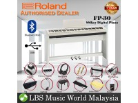 Roland FP-30 Digital Piano White Complete Package Electric Keyboard (FP30 / FP 30)
