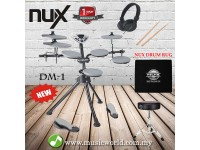 NUX Portable Digital Electrical Drum Kit DM1 With Drumstick + Drum Stool + Pedal + Carpet