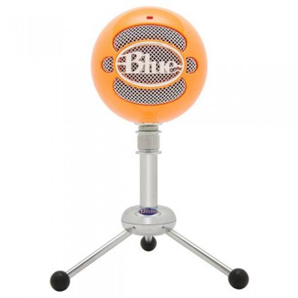 Blue Microphones Snowball USB Microphone Mic With Stand and Cable (Bright Orange)