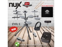 NUX Portable Digital Electronic Drum Kit DM1 With Drumstick + Drum Stool + Pedal + Carpet + Amplifier