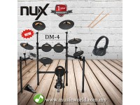 NUX DIGITAL DRUM DM4 BEGINNER BUNDLE ELECTRONIC DRUM WITH DRUMSTICK AND HEADPHONE (DM4 / DM-4)