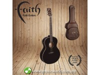 FAITH ACOUSTIC FOLK GUITAR FANBK - Apollo Neptune Black Without Pickup