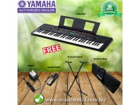 YAMAHA PSR-E263 61 Keys Portable Keyboard With Keyboard Stand Pedal Bag (PSRE263 / PSR E263)