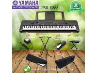 YAMAHA PSR-E263 61 Keys Portable Keyboard Premium Bundle (PSRE263 / PSR E263)