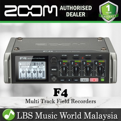 Zoom F4 Multitrack Field Audio Recorder Mixer and USB Audio Interface (F 4)