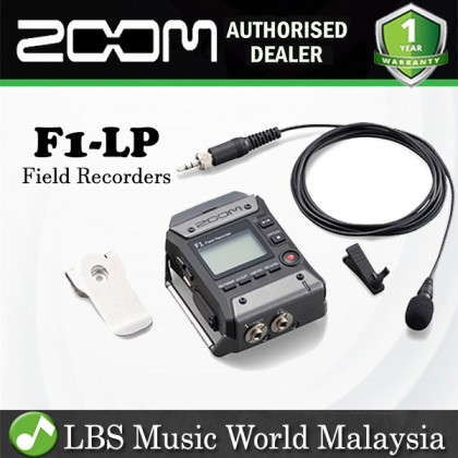 Zoom F1-LP Field Recorder and Lavalier Microphone Mic (F1LP F1 LP)