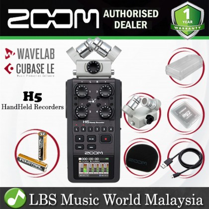Zoom H5 Handy Recorder Field Recording Mic System and USB Audio Interface  (H5n H 5)