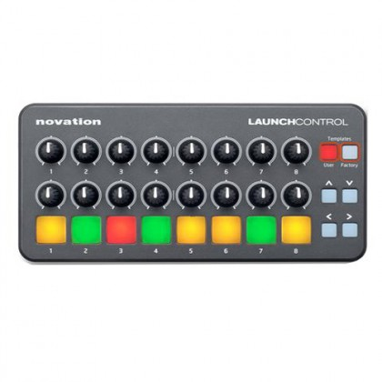 Novation Launch Control With 8 Multicolor Backlit Buttons and 16 Knobs Midi USB Controller
