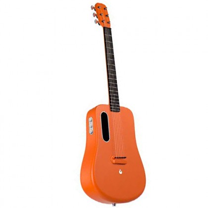 Lava Me 2 36 Inch Orange Electric Acoustic Guitar with Freeboost Effect & Speaker (Free Boost)